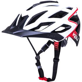 Kali Lunati - Casque de vélo - rouge/blanc